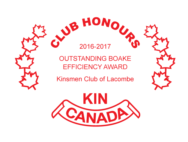 Kin Canada Outstanding Boake Efficiency Award 2017