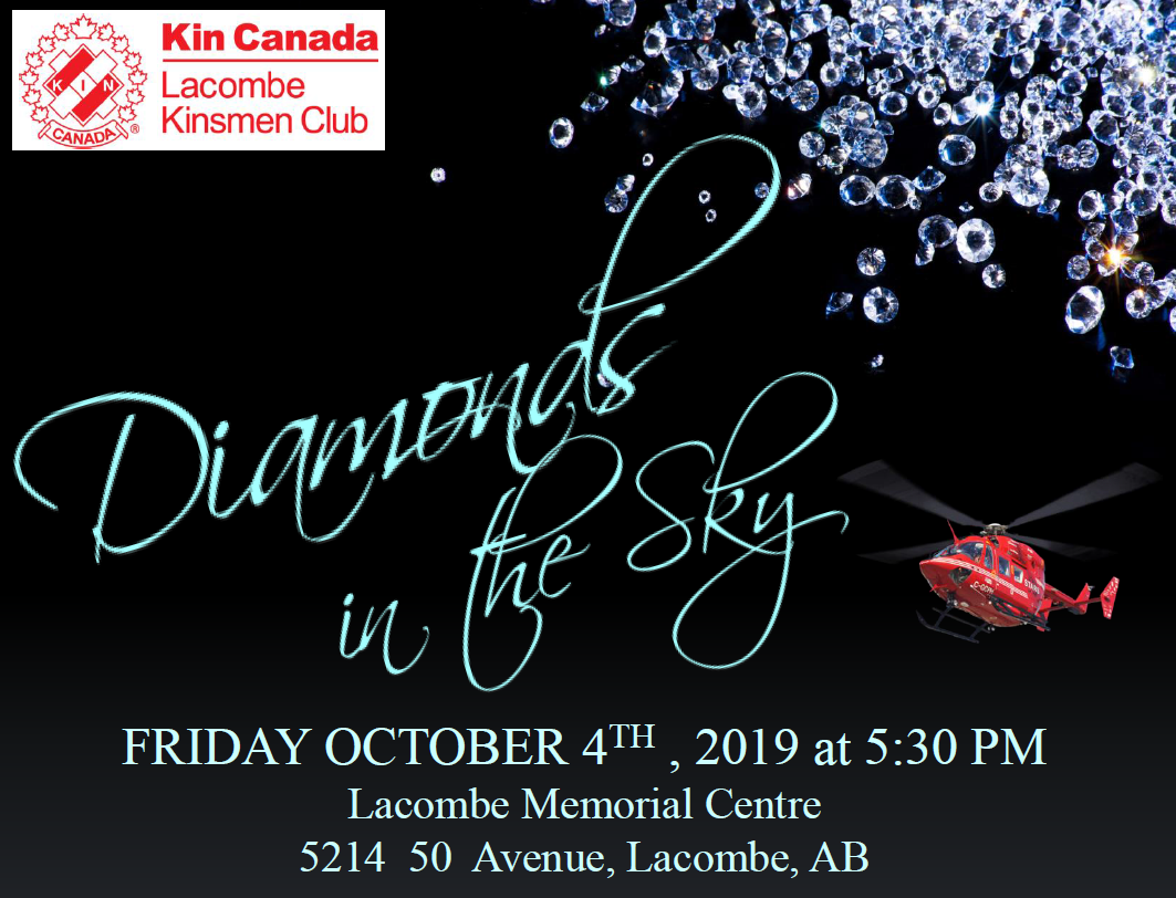 Diamonds In The Sky Friday October 4 2019 5:30 PM Lacombe Memorial Centre